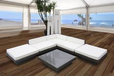 sonneninsel polyrattan garten lounge chill out sofa mit. Black Bedroom Furniture Sets. Home Design Ideas