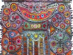 Susann Lenz contemporary embroidery art Creative Chick Studios is giving me some nice stuff to share forward! Embroidery Art, Embroidery Stitches, Machine Embroidery, Textile Fiber Art, Textile Artists, Fabric Art, Fabric Decor, Contemporary Embroidery, Thread Art