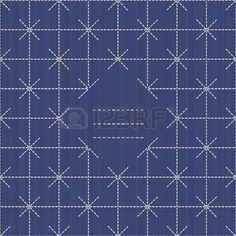 for text: Monochrome sashiko motif with copy space for text. Japanese handiwork invitation. Text frame. Abstract japanese needlework. Decorative texture. Can be used as seamless pattern. Vectores