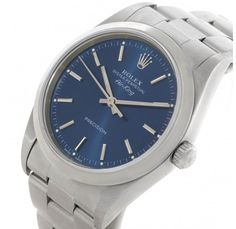 Rolex Oyster Perpetual Air King Blue Dial Watch 14000