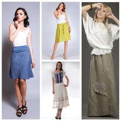 С чем носить льняную юбку: создайте современный и стильный.