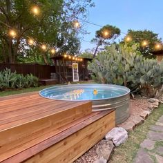 Clean backyard garden Y'alllllllllll check out this stock tank pool set up Obsessed. We are wanting t Stock Pools, Stock Tank Pool, Small Backyard Patio, Backyard Patio Designs, Backyard Ideas, Backyard Retreat, Backyard Playground, Diy Pool, Swimming Pools Backyard