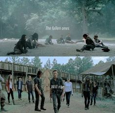 The fallen ones will rise - The Walking Dead
