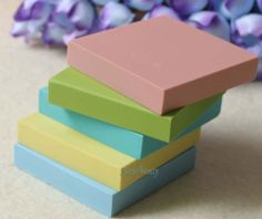 5 PCS Multicolor Square Rubber Stamp Carving Blocks For DIY Own Stamps Set A