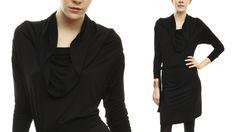 Karen Klein Convertible Tie Dress, $99. I like a black dress with some sculptural detail.*