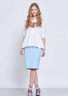 Peplum white shirt