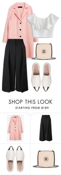 """""""PINK"""" by brithany-andrade on Polyvore featuring Zara, Erdem, Miu Miu, Chanel and Chicwish"""