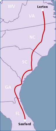 Amtrak auto train to get near Disney World - take your car with you - another  alternative to driving or flying