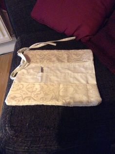 Crochet/knitting needle roll up bag.