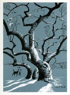 Winter Shadows Christmas card by Ralph Hulett