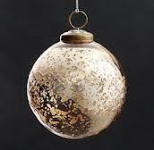 Gold Etched Vintage Glass Ornament.