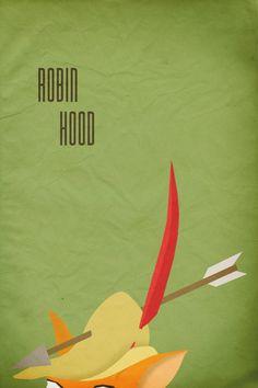 Robin Hood | 28 Posters minimalistas de Disney para el cuarto del bebé