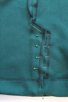 How to sew a kick pleat, vent or split.