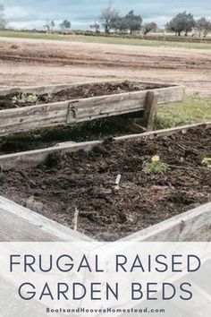 Create a home garden space with frugal and creative raised garden beds. These ideas are from upcylced materials or from things you may already have at home. #frugal #garden #gardening #DIY Raised Garden Planters, Raised Bed Garden Design, Garden Planter Boxes, Diy Planters, Small Gardens, Outdoor Gardens, Starting A Vegetable Garden, Vegan Kitchen, Kitchen Recipes