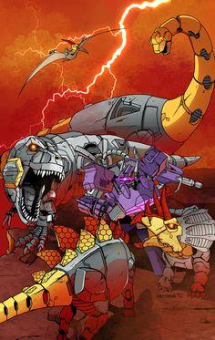 Transformers - Shockwave vs Dynobots by Dmitry Lapaev *