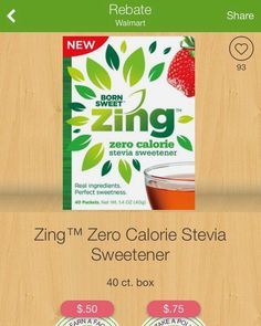 Katie's Pantry Partners: FREE Zing Stevia Sweetener at Walmart with Ibotta!...