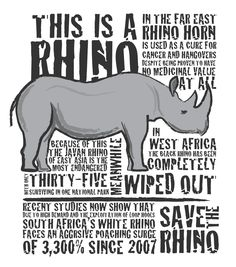 Save the rhino