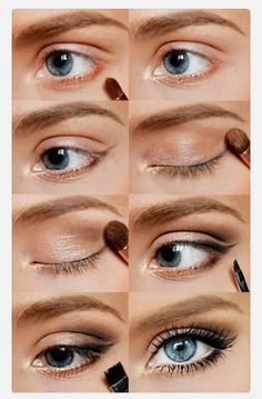"""Casual Makeup- This is a great look for those girls who are afraid of """"too much""""."""