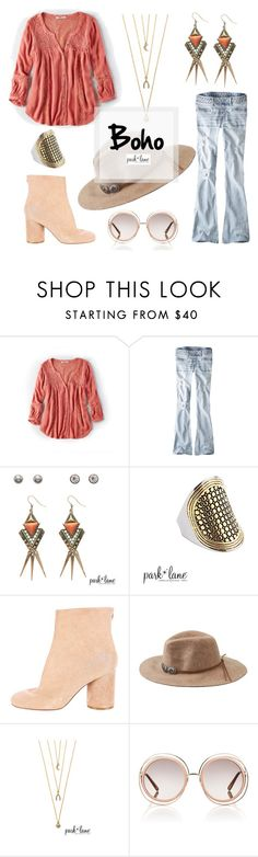 """""""Boho"""" by parklanejewelry on Polyvore featuring American Eagle Outfitters, Maison Margiela and Chloé"""