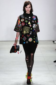 Libertine, Look #1  #nyfw #ss16 #fashion #trends #SS16trends  #badges #appliqué