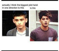 Zayn Malik from 17 to Whaaat. So there s hope for everyone. One Direction Images, One Direction Quotes, I Love One Direction, Zayn Mailk, Niall Horan, Zayn Malik Photos, 1d Imagines, 1d And 5sos, Stupid Funny Memes