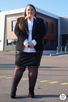 La jupe à sequins version Working girl ~ La Terre est Ronde, moi aussi...