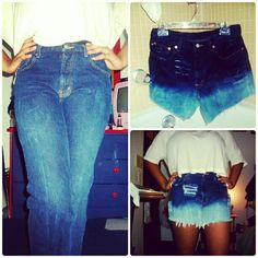 DIY High Waisted Bleached Shorts