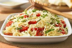 ive this Capellini Caprese dish its vibrant flavor with fresh tomatoes and basil. The Italian dressing on Capellini Caprese Kraft Foods, Kraft Recipes, Pasta Recipes, Dinner Recipes, Cooking Recipes, Healthy Recipes, Dinner Ideas, Restaurant Recipes, Side Recipes