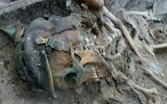 World War One soldiers' skeletons discovered in former trenches The skeletal remains of a young man killed in World War I has been unearthed by volunteers in northeastern France. The uniform and equipment in the grave identify the man as a German soldier. Archaeological work in the area has also uncovered a network of tunnels and trenches that were part of the far right front line during the fighting. #WorldWarI #WWI #WW1 #history #France #Germany #soldier #archaeology