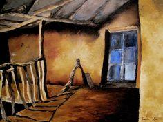 """""""La Casa del Cuzco"""", oil on canvas, 51""""x39"""". (2010) by artist Talavera-Ballon Oleo sobre lienzo, 150 cm x100cm (2010)"""
