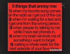 These are so true