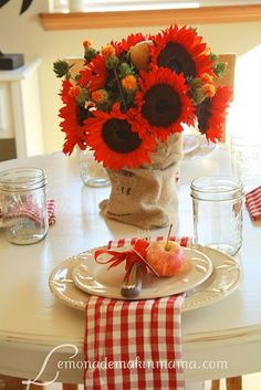 sunflowers turn red if you put them in a jar of dye!