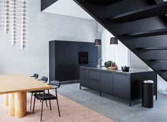 Vipp Chimney House - Picture gallery U Shaped Staircase, High End Kitchens, Terrazzo Flooring, Loft, Extruded Aluminum, Home Studio, Atrium, Design Firms, Business Design