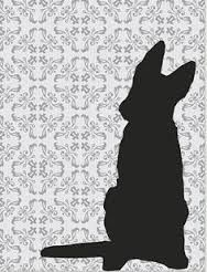 Image result for german shepherd dog silhouette