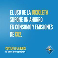 El uso de la Bicicleta supone un ahorro en consumo y emisiones de CO2.