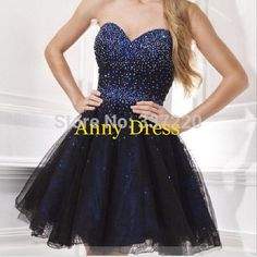 Find More Homecoming Dresses Information about in stock strapless dress beading navy blue prom dresses short homecoming dresses 2014 ,High Quality dress me prom dresses,China dress sleepwear Suppliers, Cheap dress form jewelry stand from Annya Wedding Dress Co., Ltd. on Aliexpress.com