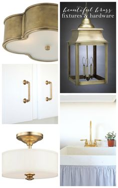Beautiful Brass Hardware & Lighting