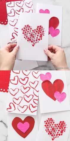 Valentine Card Ideas - so many easy Valentine's day cards for kids to make! Perfect for preschool or toddlers too! day for kids Valentine Card Ideas Valentine Cards To Make, Valentine Crafts For Kids, Valentines Diy, Valentine's Day Crafts For Kids, Mothers Day Crafts, Diy Unicorn, San Valentin Ideas, Ladybug Crafts, Valentine's Day Diy