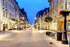 Lodz, Poland Commercial Street, Central And Eastern Europe, Most Visited, Exterior Design, Cities, Travel Destinations, Places To Visit, Explore, Adventure