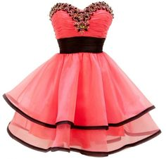 Gorgeous Strapless Short Prom Dress, maybe in red :)