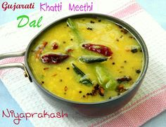 Gujarati dal - serve with rice and chapati bread