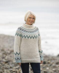 """2035-1c """"Kathrine""""-genser Perlegrå Alpacas, Baby Alpaca, Norway, Vikings, Men Sweater, Turtle Neck, Pullover, Knitting, Sweaters"""