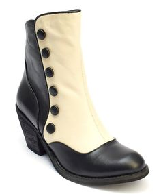 Take a look at this Black & Cream Gringo Leather Bootie today!