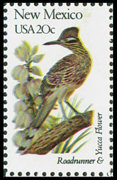 1982 20c New Mexico State Bird & Flower - Catalog # 1983 For Sale at Mystic Stamp Company