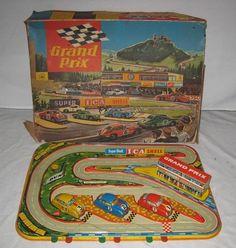 Ltd Toy Stamp & 1960's W German Technofix Grand Prix Race Set Tin Litho Wind-up