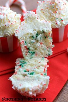 Vanilla Candy Cane Cupcakes by Noshing With The Nolands
