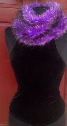LIP SERVICE Ostrich Fur (?) top *VINTAGE* *90's*