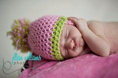 CROCHET PATTERN Pom Pom Chinstrap hat by CrochetMyLove on Etsy, $3.50