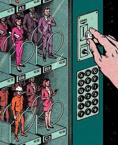 Choose a Career Vending Machine Comics Pop Art by Andrew Fairclough