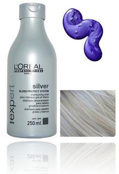 Purple Shampoo Silver Shampoo Loreal Paris.